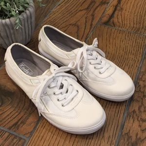 Keds / Ortholite White Canvas Sneakers
